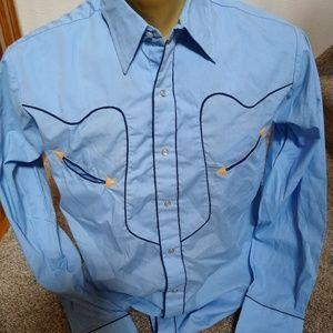 New Vintage Denver Westerns Pearl Snap Shirt L